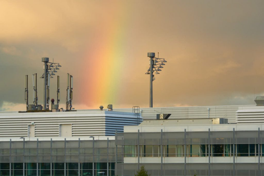 rainbow over MUC