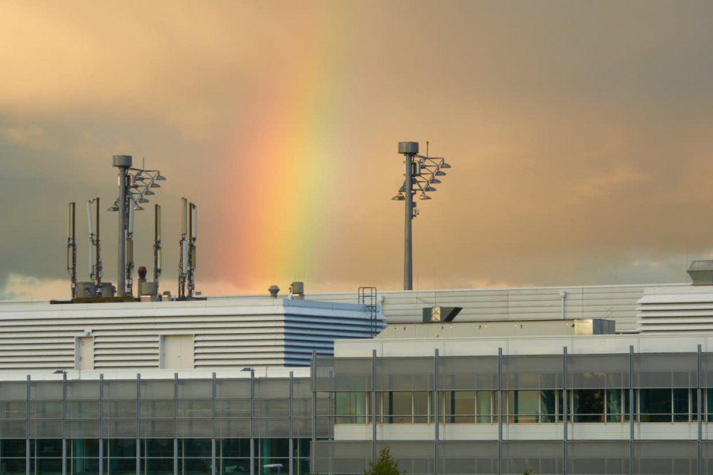 rainbow over MUC