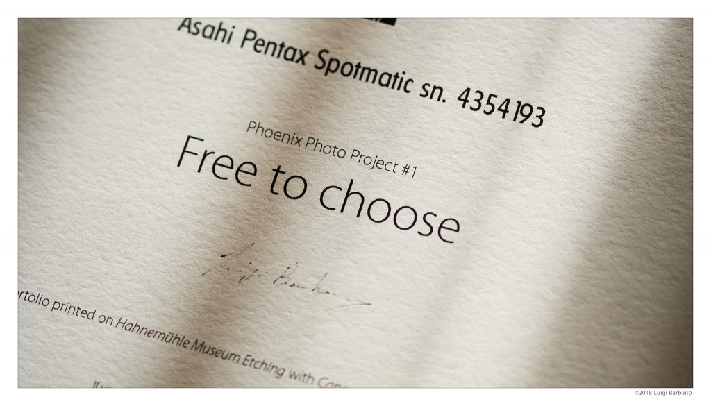 PhoenixPhotoProject #1: Free to choose