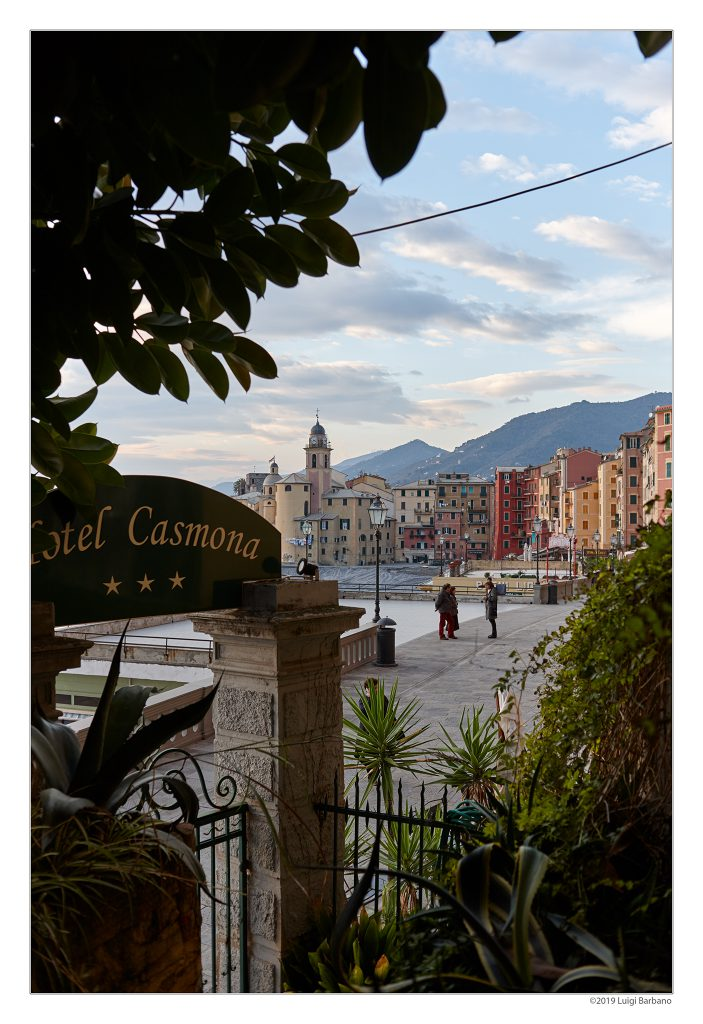 View of Camogli from the Casmona Hotel